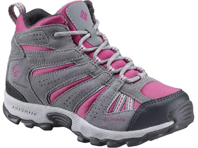 Columbia North Plains Mid Waterproof - Chaussures Enfant - gris/rose